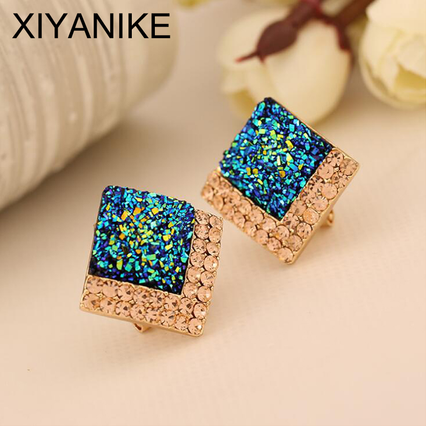 New Brand Promotion Hot Selling Temperament Luxury Fashion Rhinestone Crystal Sq