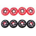 4 шт. сверхмощный роликовый хоккейный фитнес скейт Замена колеса 84A черный/красный 72 мм/76 мм/80 мм