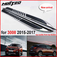 Car Running Board Side Step Bar Pedals for Peugeot 3008 2016-2018,High Quality from ISO9001 big factory. free shipping to Asia