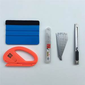 4pcs/lot Car Vinyl Wrap Film Tool Felt Squeegee Scraper Snitty Cutter Knife Car Styling Car Sticker Car Wrap Tools Kit
