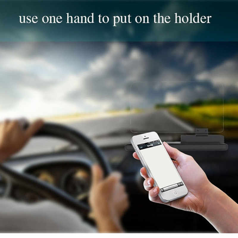 GEYIREN 6 inch Universal H6 Car HUD Head Up Display Projector Phone Navigation Smartphone Holder gps hud for any cars