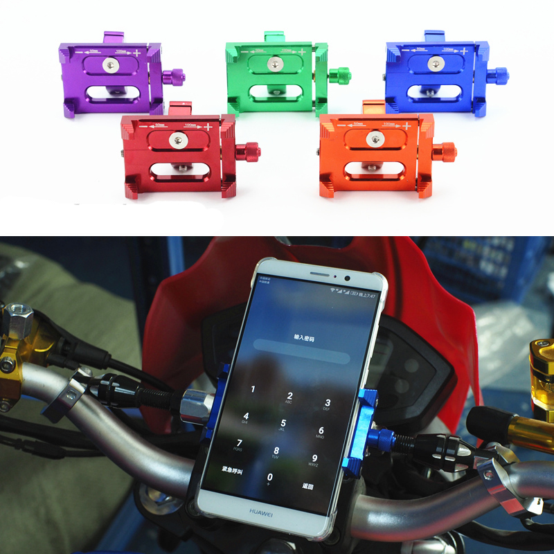 Metal Bicycle Holder Motorcycle Handle Phone Mount Bracket Stand For Cellphone Mobile Phone GPS For Yamaha Honda Benelli Triumph allen roth brinkley handsome oil rubbed bronze metal toothbrush holder