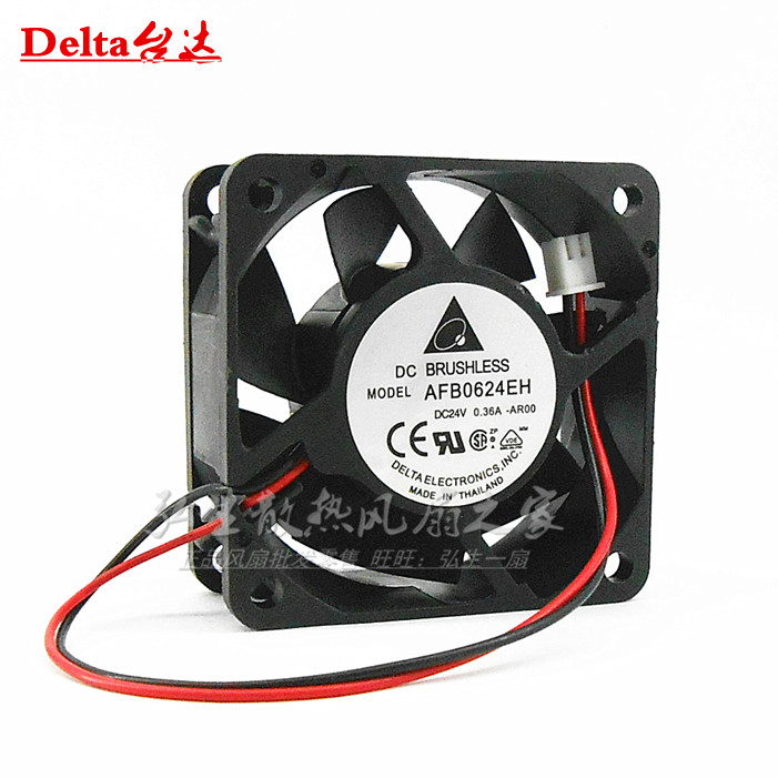 Delta Electronics AFB0624EH -AR00 Server Square Fan DC 24V 0.36A 60x60x25mm 2-wire