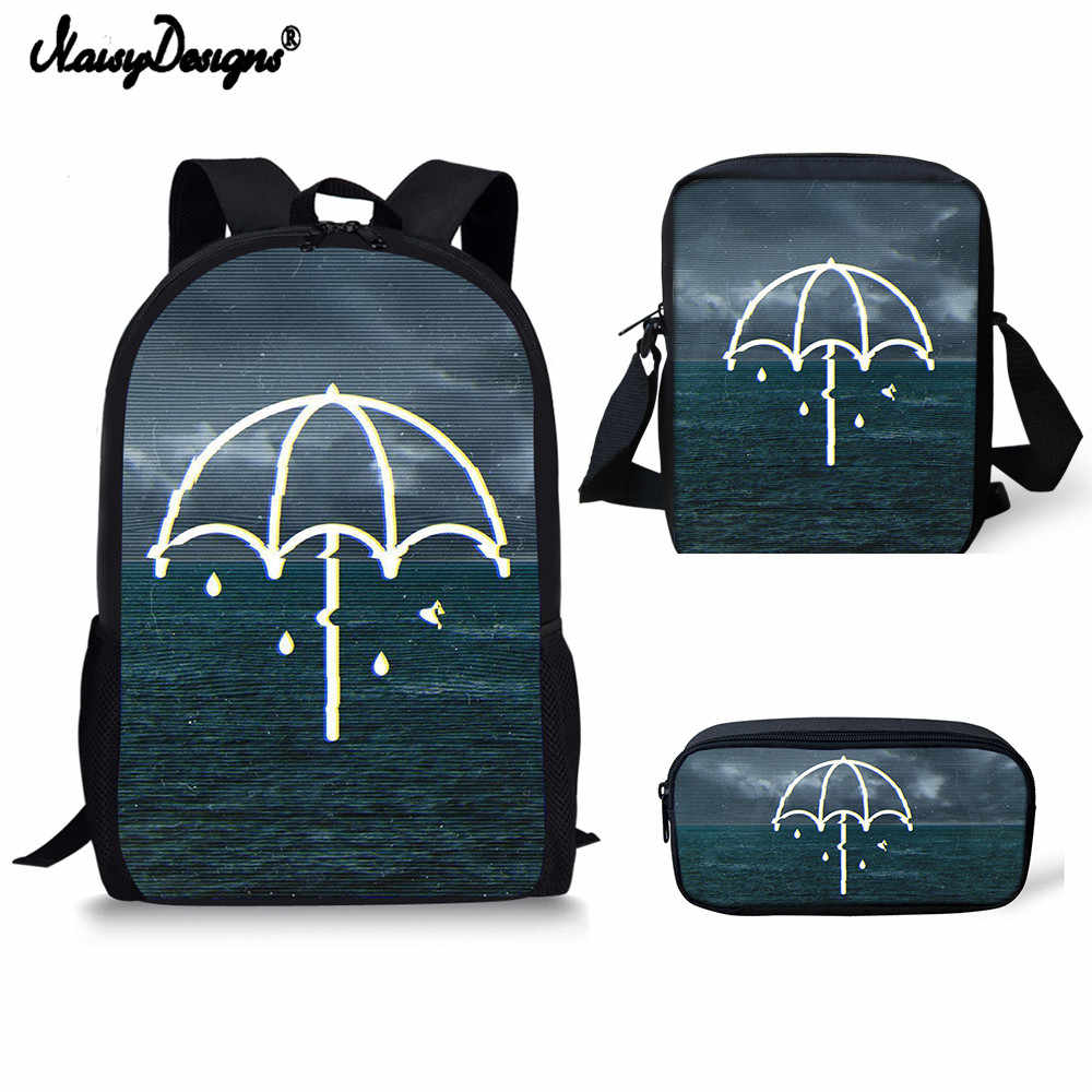 98612f993897 Bring Me The Horizon Printing Backpacks Children Bookbag Girls School Bag Mochila  Boys Casual Daily Shoulder