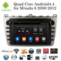 Android 4.4 Quad Core 8 Car DVD Player for Mazda 6 2008 2012 support Bluetooth/RDS/USB/SD/3G/wifi/GPS/TPMS Radio