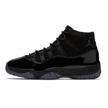 bdb8149a2df3af Jordan 11 Basketball Shoes Winter Sneaker Cap And Gown All Black Winter  Shoes aj11 Lace-