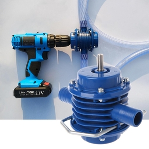 Image 1 - 2019New Heavy Duty Self Priming Hand Electric Drill Water Pump Home Garden Centrifugal Miniature Drill DC Small Pump Accessories