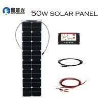 XINPUGUANG 50 Вт 18 в ETFE эффективная Гибкая солнечная панель система генерации солнечной энергии для автомобиля RV yacht 12 в зарядное устройство