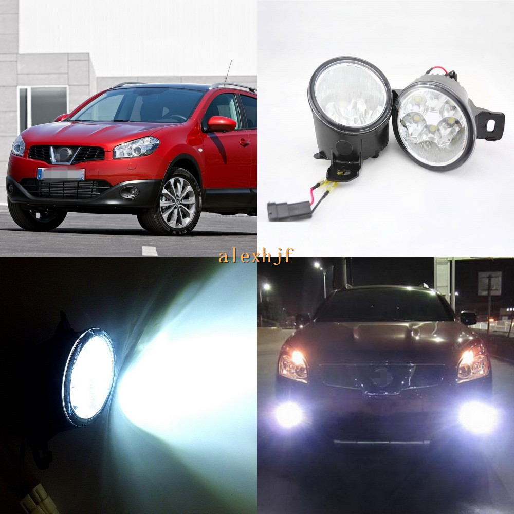 July King 18W 6LEDs H11 LED Fog Lamp Assembly Case for Nissan Dualis Qashqai 2007~2015, 6500K 1260LM LED Daytime Running Lights july king 18w 6leds h11 led fog lamp assembly case for nissan versa 2012 on 6500k 1260lm led daytime running lights