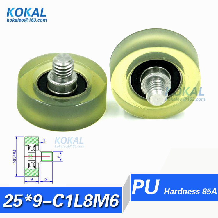 PU25 9 C1L8M6 Free Shipping 10pcs high quality 625RS bearing rubber soft stainless steel srew