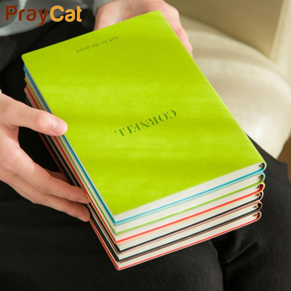 B5 A5 Cornell cuaderno diario, diario de viaje de la estudiante creativo horario diario libro de 100 páginas de la escuela suministros