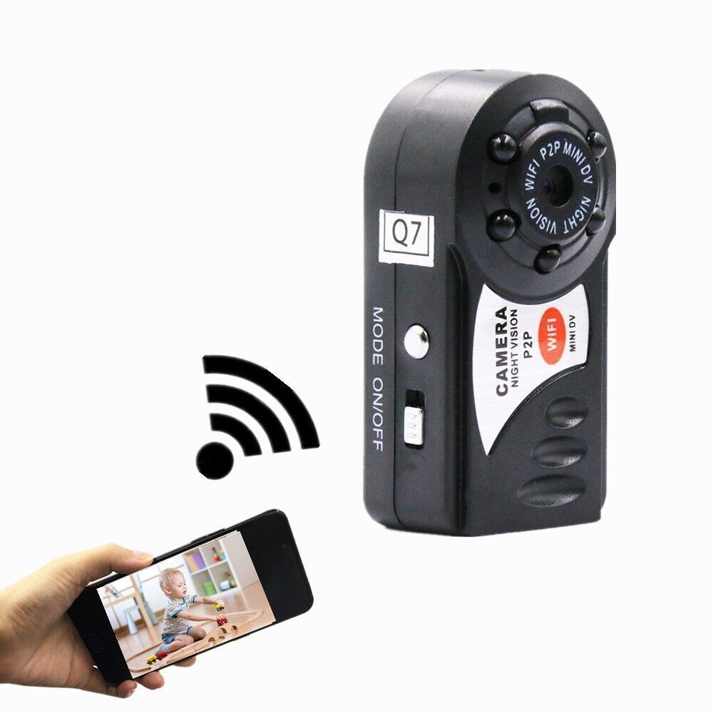 best HD mini dv video camera wifi espia Q7 mini home security camera Wireless IP Cam DVR ...