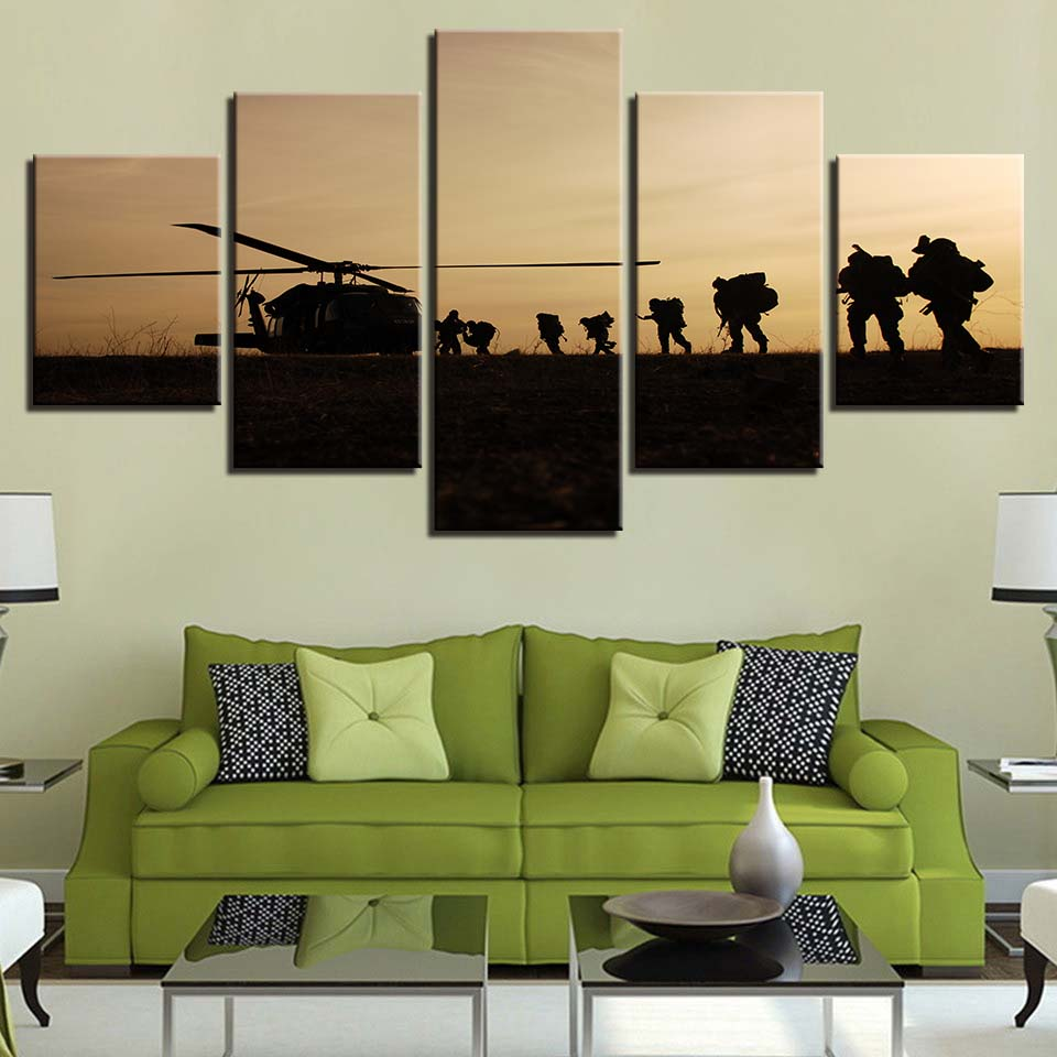 Modular Canvas Painting Hd Prints Home Decor 5 Pieces Wall