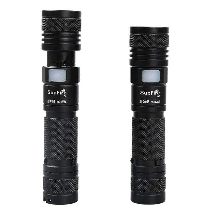 Supfire Flashlight Linterna LED Zoom Flash Light 18650 Rechargeable A2 USB Torch for Fenix Sofirn Convoy Olight Lanterna S099