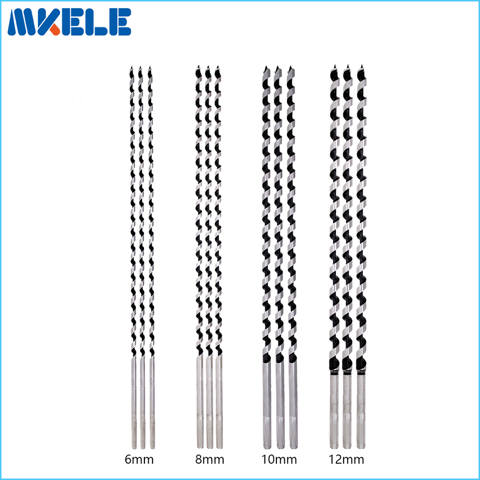 12pcs/set wood bits Quality Sarbon Steel Sharp Twist Drill Bit For Electrical Drill Woodworking Tools 6/8/10/12mm*460mm 1 2 5 8 round nose bit for wood slotting milling cutters woodworking router bits