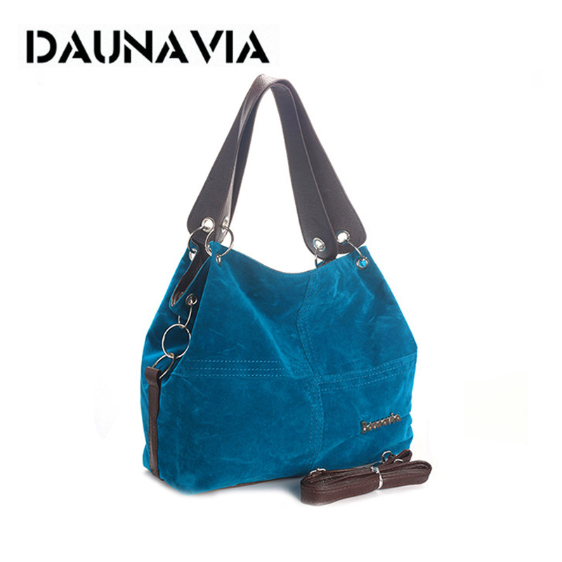DAUNAVIA Brand Handbag Women Shoulder Bag Female Large Tote Bag Soft Corduroy Leather Bag Crossbody Messenger Bag For Women 2019