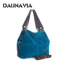 DAUNAVIA brand handbag women shoulder bag female large tote bag soft Corduroy leather bag crossbody messenger bag for women 2019