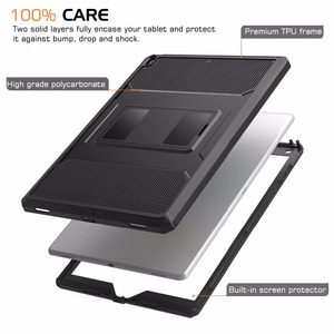 """Image 2 - MoKo Case For New iPad Air (3rd Generation) 10.5"""" 2019/iPad Pro 10.5 2017  [Heavy Duty] Shockproof Full Body Rugged Hybrid Cover"""