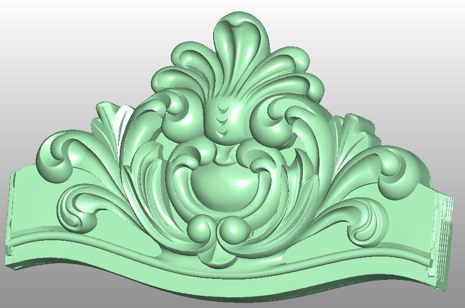 3D model STL format file for cnc router engraving furniture sofa cabinet chair leg pattern Artcam 823