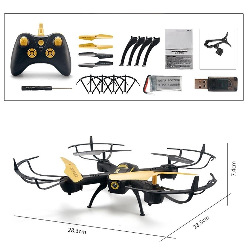 Hoge kwaliteit RC Quadcopter WiFi Hoogte Houden Voice Control Drone met led verlichting Headless RC Helikopters - 6