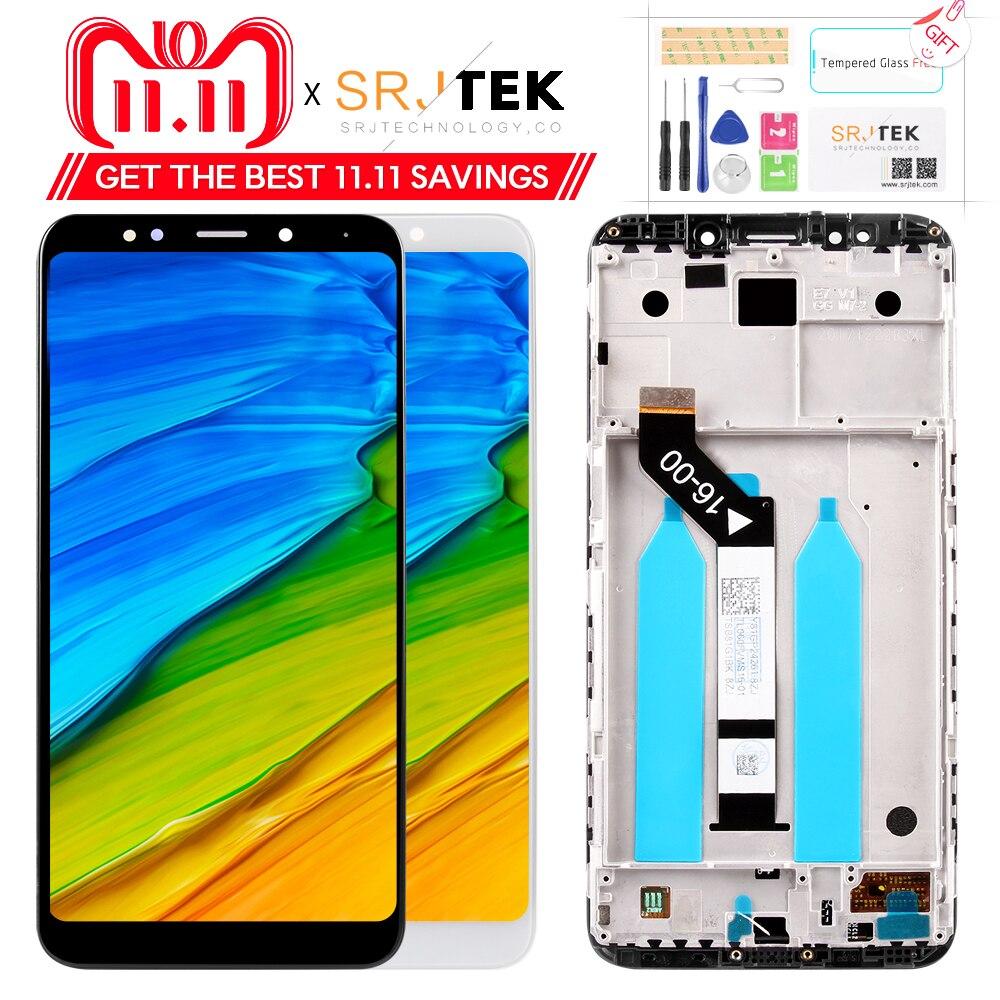 Para Xiaomi Redmi Note 5 LCD pantalla digitalizador Marco de 10 puntos de pantalla táctil Redmi Note 5 Global LCD Original de reemplazo partes
