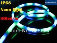 5M Lot With The Plug Waterproof Rain LOGO Lights Orange Colorful Tubes Flexible Neon LED Rope