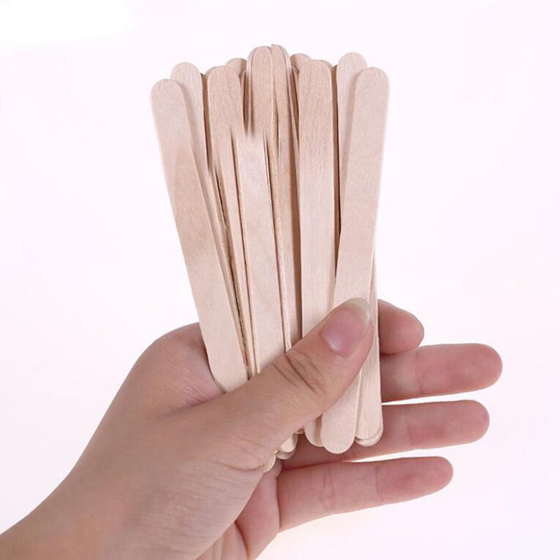 50Pcs/Lot Wooden Craft Ice Cream Sticks Pop Popsicle Sticks Natural Wood Cake Tools DIY kids Handwork Art Crafts Toys Ice Mold image