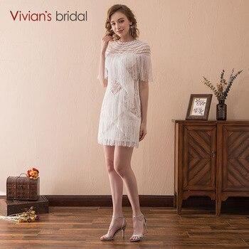 Short Sleeve Prom Dress O Neck Vivan's Bridal Evening Party Dress Evening Gown vestido festa