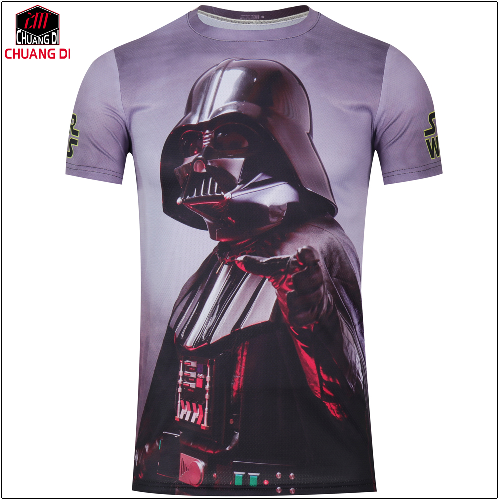 a6102eca7 2019 New Style Mens 3D Star Wars T Shirts Cycling Printed Short Sleeve Men  Fitness T