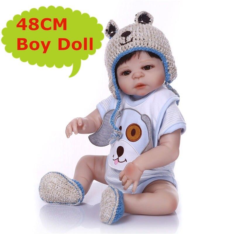 NPK 19 pollici bebe reborn doll giocattoli caldi di vendita a buon mercato slicone bambole del bambino rinato 48 cm Regalo Di Natale Bonecas Per Bambini giocattoli-in Bambole da Giocattoli e hobby su  Gruppo 1