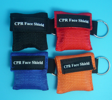 100 Pieces CPR Rescue Mask Mouth To Mouth CPR Face Shield For First Aid Training цена