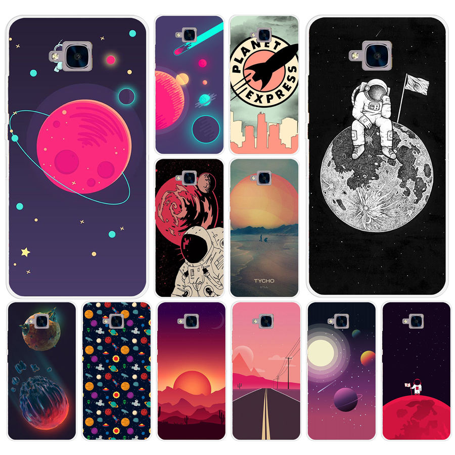 Selfless 255ad Space Moons Cartoon Hard Transparent Cover For Huawei Honor 5c No Without The Fingerprint Hole Version For Ru Cellphones & Telecommunications Phone Bags & Cases