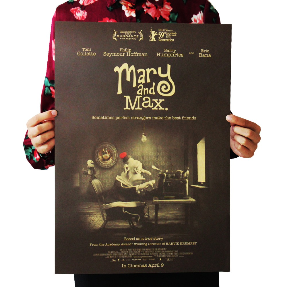 Mary And Max Hoffman Classic Movie Film Poster Kraft Paper Bar Poster Retro Poster Decorative Painting 51x35 5cm Retro Poster Film Posterbar Posters Aliexpress