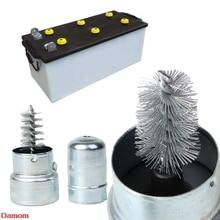 Автомобильная Серебряная Батарейная Клемма, инструмент для очистки, щетка из нержавеющей стали