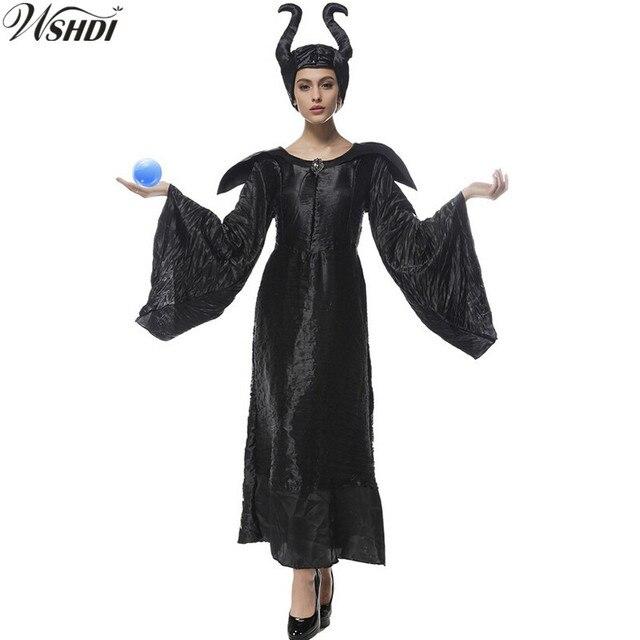 Halloween Sprookjes Kostuum.Us 19 42 22 Off S Xxxl Zwarte Heks Kostuums Vrouwen Volwassen Halloween Cosplay Sprookje Doornroosje Heks Koningin Maleficent Fancy Dress In S Xxxl