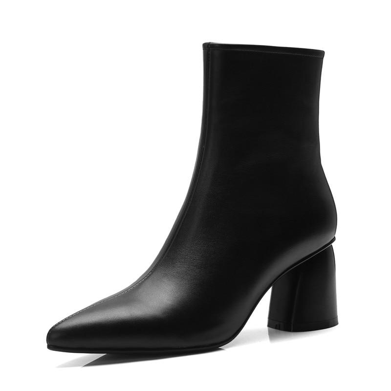 Bout Talons Robe Pour Smirnova Cuir Arrivée Cheville 33 Épais Qualité En De Pointu 2018 Haute Femmes noir Taille 39 Bottes Chaussures Nouvelle Beige Femelle qATxwYT8