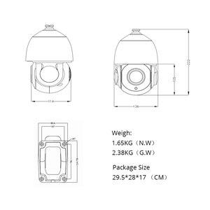Image 4 - 5.0MP POE 30X PTZ כיפת IP מצלמה חיצוני HI3516E + SONY335 5.35 96.3mm זום האופטי IR 60M אבטחת CCTV עמיד למים G. אומן