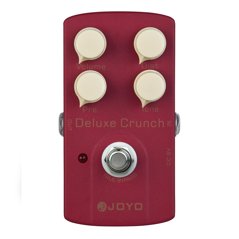 JOYO Deluxe Crunch Distortion Electric Guitar Effect Pedal True Bypass JF-39 JF 39 joyo jf 39 deluxe crunch overdrive guitar pedal effect true bypass red