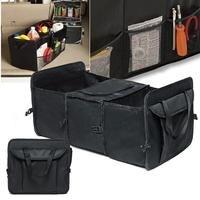 Car Auto Waterproof Foldable Black Car Boot Organizer Storage Bag Protable Auto Storage Box Multi