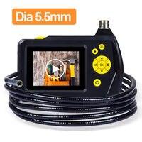 2 7 LCD NTS100R Endoscope 5 5mm Borescope Snake Inspection Tube Camera 1 Meter