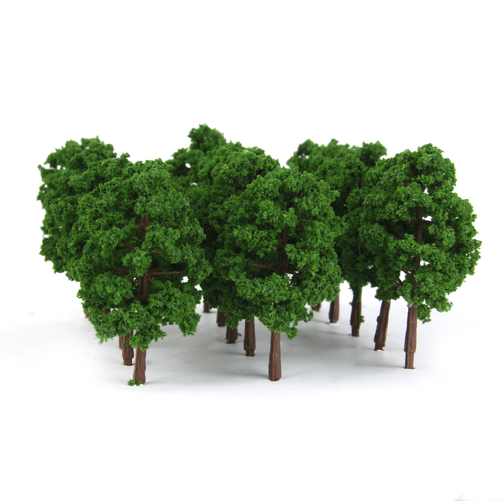 60 pcs Model Trees Layout Train Railway Diorama Landscape Scenery 1:150 N Scale image
