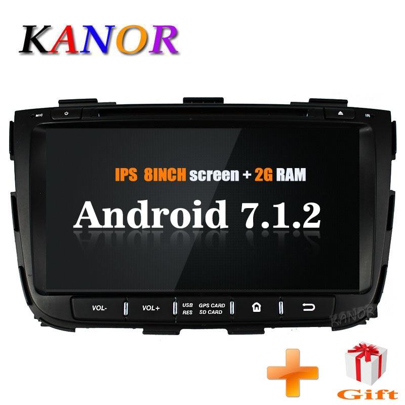 KANOR Android 7 1 car font b gps b font for kia Sorento 2013 2014 dvd
