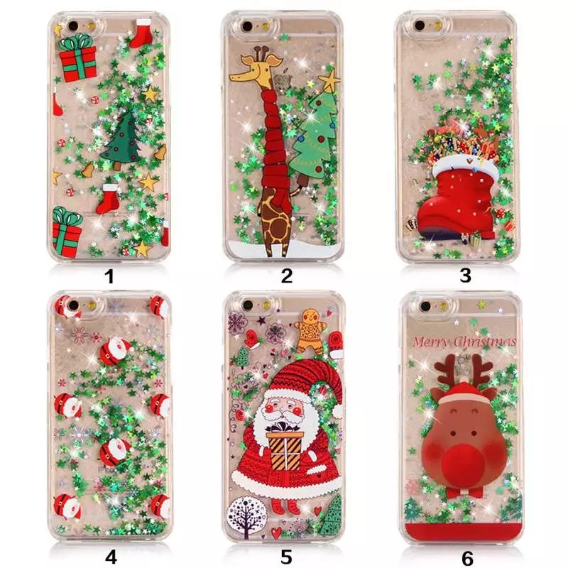reputable site 8f6d7 97eef US $3.71 7% OFF|Bling Stars Quicksand Decorative Christmas Water Sand Case  Cover For iPhone 5s SE 6 6s 6 plus 7 7 Plus Liquid Case Fundas Coque-in ...
