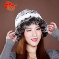 2014 Hot fashion excellent rex rabbit fur hat Genuine Women winter cap high quality beret hat