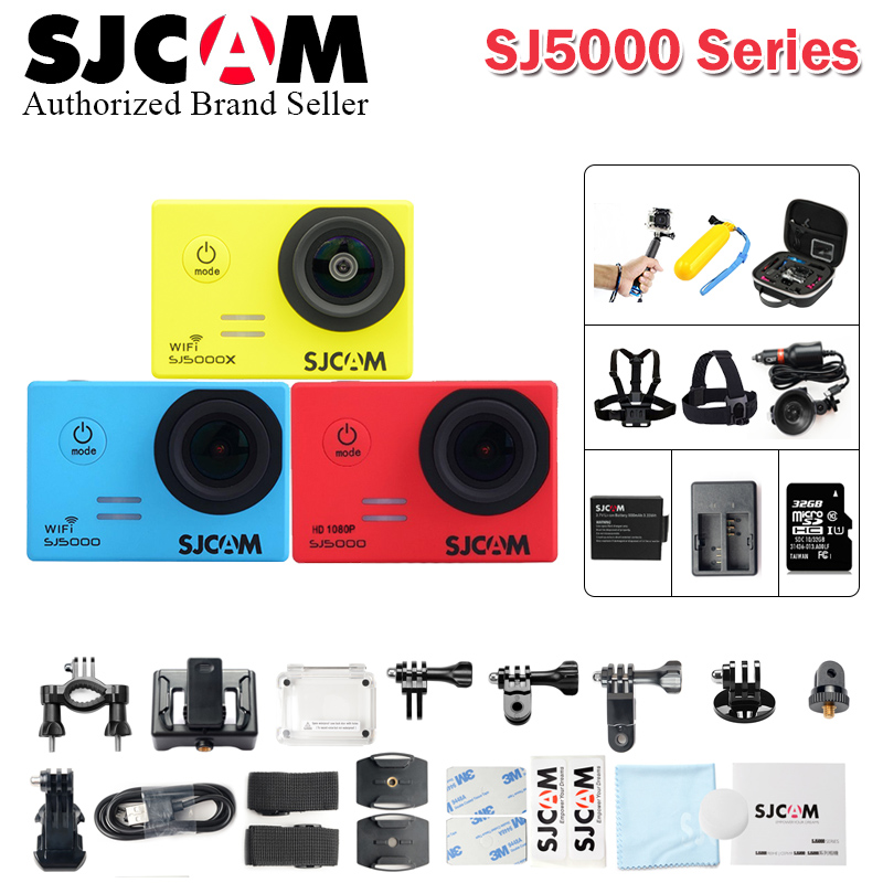Original sjcam SJ5000 Series SJ5000 & SJ5000 WiFi & SJ5000 Plus & SJ5000X Action Sport Camera 4K Waterproof Camera SJ 5000 Cam wifi ip camera 720p wi fi security camera wireless hd two way audio night vision infrared ir cut wireless camera p2p h 264 cmos