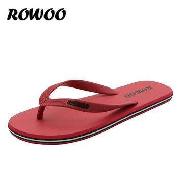 Venda quente de verão sapatos de borracha moda chinelos homens sandálias masculinas chinelos de praia plana atacado dropshipping 1