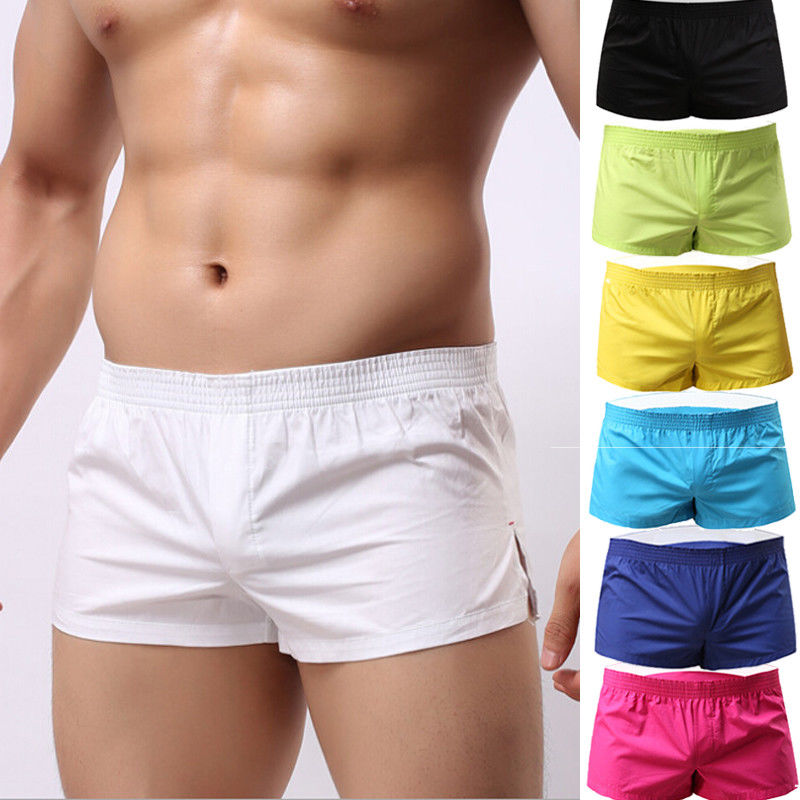 Men Summer Breathable Cotton Male Gym Sports Running Sleep Comfortable Casual Shorts For 7 Colors
