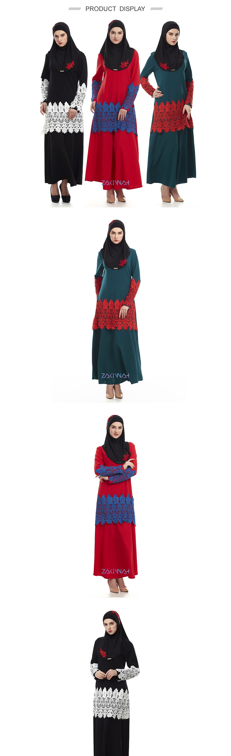 Arabic fashion clothes lace long abayas