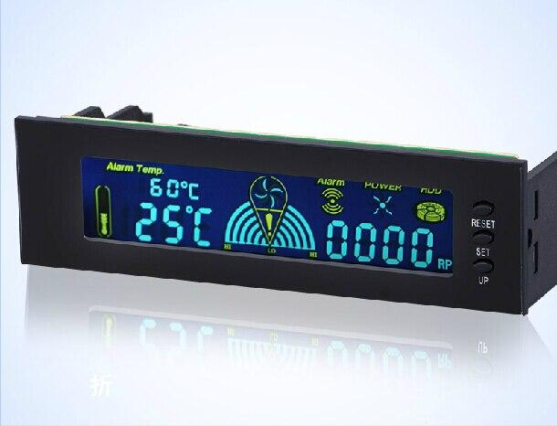 Fan speed controller, optical drive Bay, LCD display, fan temperature, fan speed, HDD LED, power supply, alarm, 12V10W, STW-5006