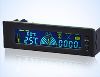 Regolatore di velocità della ventola, optical drive Bay, display LCD, temperatura della ventola, velocità della ventola, LED HDD, alimentazione, allarme, 12V10W, STW-